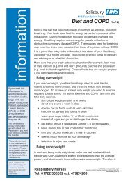 Diet and COPD (1 of 2) - ICID - Salisbury NHS Foundation Trust