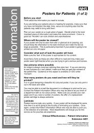 Guidance on Patient Information Posters. - ICID