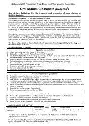 Oral sodium Clodronate - ICID - Salisbury NHS Foundation Trust