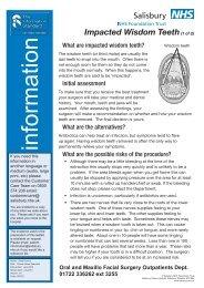 Impacted Wisdom Teeth - ICID - Salisbury NHS Foundation Trust