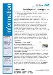Insulin pump therapy (1 of 2) - ICID - Salisbury NHS Foundation Trust