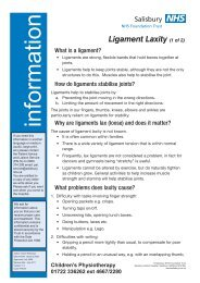 Ligament Laxity (1 of 2) - ICID - Salisbury NHS Foundation Trust