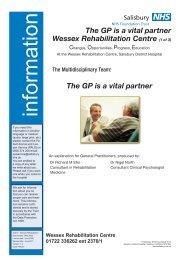 The GP is a vital partner - ICID - Salisbury NHS Foundation Trust