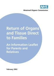 Return of Organs and Tissue Direct to Families - ICID