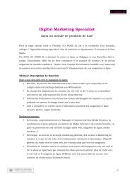 Digital Marketing Specialist - Paris XL