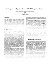 A Comparison of Equation-Based and AIMD Congestion Control