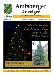 Amtsberger Anzeiger - in der Gemeinde Amtsberg