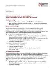 Liste verpflichtend zu bestellender ... - Arbeitsinspektion