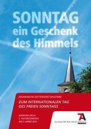 ein Geschenk des Himmels - Allianz für den freien Sonntag