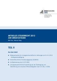Aktuelles Steuerrecht zur Umsatzsteuer 2013 mit Prof. Helmut Karg ...