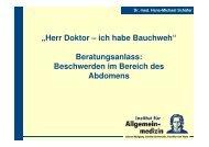 Herr Doktor – ich habe Bauchweh - Institut für Allgemeinmedizin ...