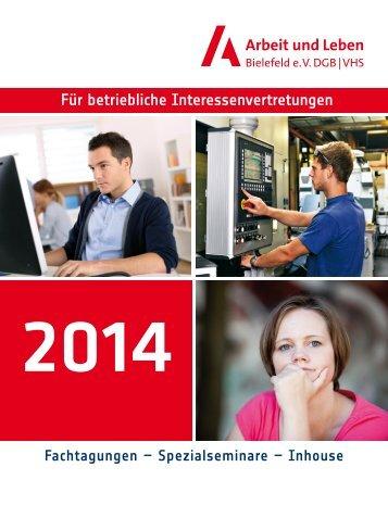 Jahresprogramm 2014 Arbeit und Leben Bielefeld