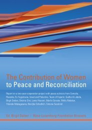The Contribution of Women to Peace and Reconciliation