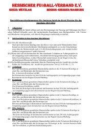 Wetzlar - Hessischer Fußball Verband