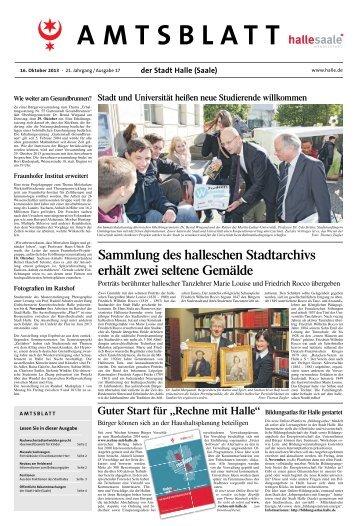 Amtsblatt Nr. 17 vom 16. Oktober 2013 - Stadt Halle (Saale)