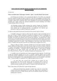 Organisation de la procédure orale et présentation d'experts :lettre ...