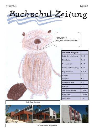 Juli 2012 Ausgabe 21 In dieser Ausgabe - Bachschule Feuerbach