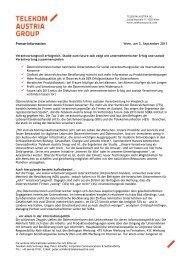 Presse-Information Wien, am 5. September 2013 - Lebensart