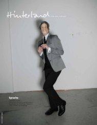 Sprache - Hinterland Magazin