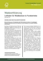Leitfaden FSC-Waldzertifizierung PDF, Size: 66 ... - FSC-Deutschland