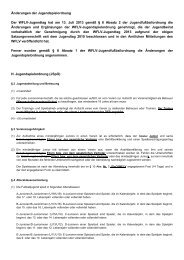 "Ã""nderungen der Jugendspielordnung Der WFLV-Jugendtag hat am ..."