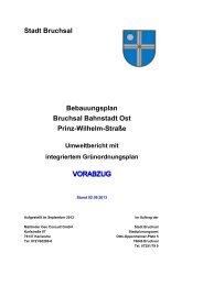 Umweltbericht - Bruchsal