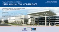 23rd annual tax conference - Institute of Continuing Legal Education