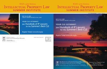 Intellectual Property Law Intellectual Property Law - Institute of ...