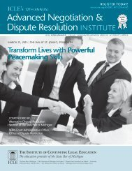 Download Brochure (PDF) - Institute of Continuing Legal Education