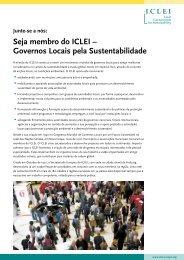Seja membro do ICLEI – Governos Locais pela ... - ICLEI Europe