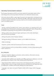 Internship: Communications Assistant - ICLEI Europe