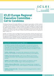 ICLEI Europe Regional Executive Committee - Call for Candidates