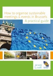 How to organise sustainable meetings & events in Brussels A ...