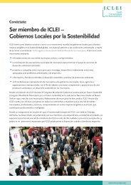 Ser miembro de ICLEI – Gobiernos Locales por la ... - ICLEI Europe