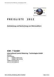 P R E I S L I S T E     2 0 1 2 - ICM Technologies / ICM Technologies