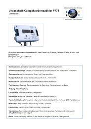 Ultraschall-Kompaktwärmezähler F775 - ICM Technologies / ICM ...