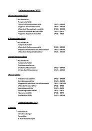 Lieferprogramm 2013 - ICM Technologies / ICM Technologies