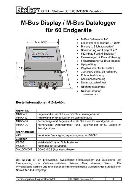 MR004FA/DL - Relay GmbH