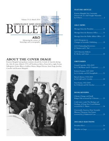Limnology and Oceanography Bulletin Vol 19(1), March 2010