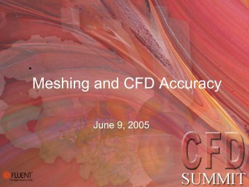 Meshing and CFD Accuracy - ICM