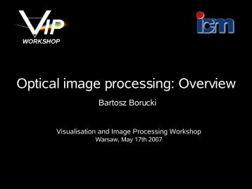 Optical image processing - ICM