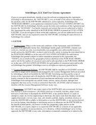 Schrödinger, LLC End User License Agreement - ICM