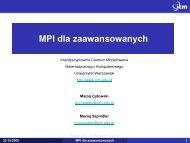 MPI dla zaawansowanych - ICM
