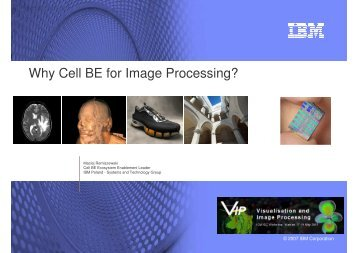 Why Cell BE for Image Processing? - ICM