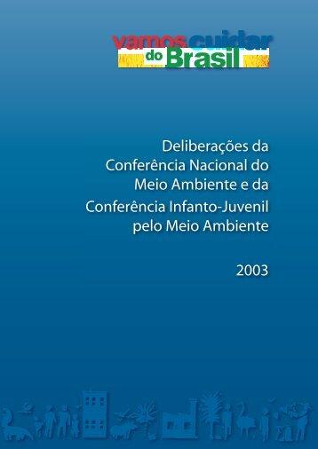 Deliberações da CNMA - Ministério do Meio Ambiente