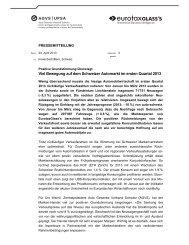 Medienmitteilung vom 24. April 2013 - AGVS