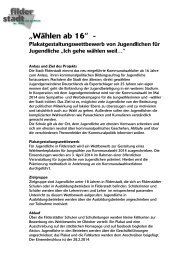 Anlass und Ziel des Projekts - Stadt Filderstadt