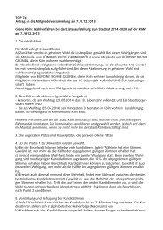 Antrag des Kreisverbands zum Wahlverfahren zur ... - Grüne Köln