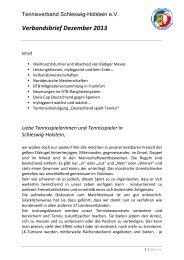 Verbandsbrief Dezember 2013 - Tennisverband Schleswig-Holstein ...