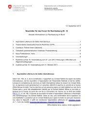 Newsletter für das Forum für Rechtsetzung Nr. 15 - EJPD - admin.ch